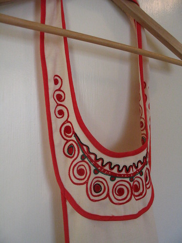 folksy vintage apron