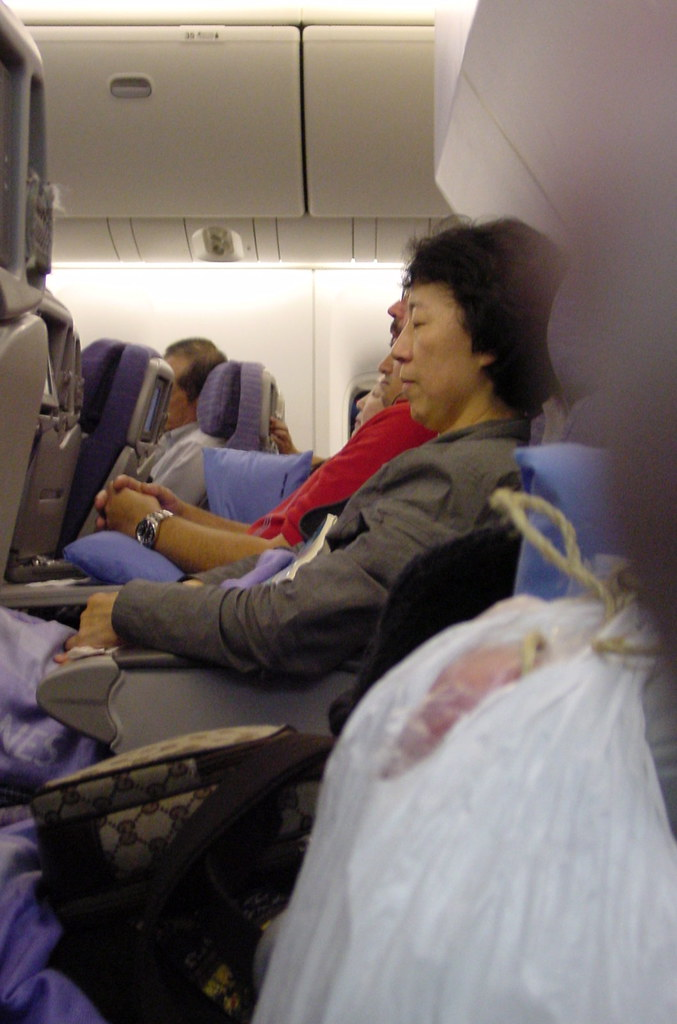 Crowded China Air Flight