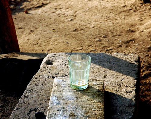 Empty Glass on a Winter Morning.