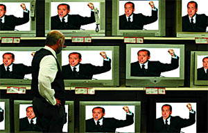 TUNE IN, DROP OFF: All Berlusconi, all the time
