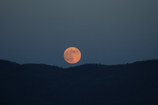 The moon over the Uintas