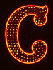 Letter C, in Neon (Crazy California)
