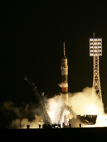 Soyuz taking off with Space tourist (not Jim Symcox by the way!)