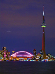 SkyDome and CN Tower standing out in the sky photo by Metropol 21