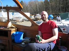 Det är mycket jobb med en träbåt