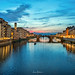 Sunset on the Banks of Florence