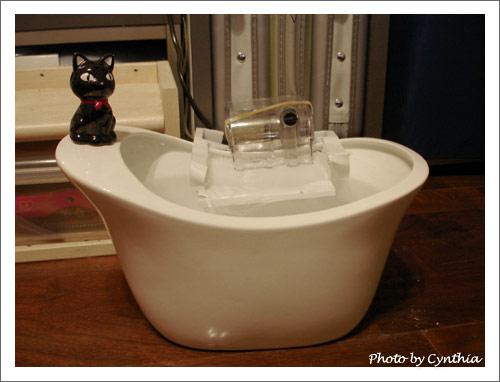黑貓貓飲水盆+馬達
