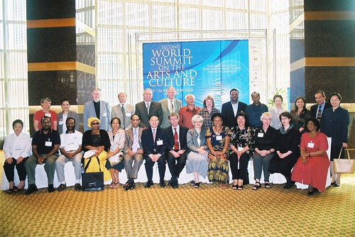 Founding members of IFACCA at the second World Summit on Arts & Culture, Singapore, November 2003