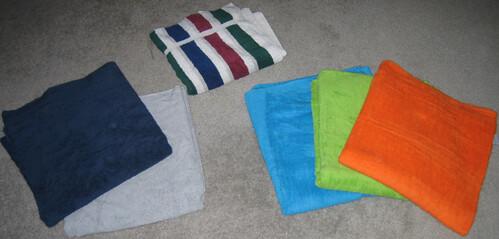three generations of towels