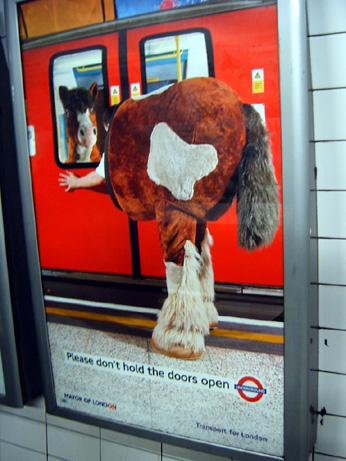 Please Don't Hold the Doors Open - London Underground Ad