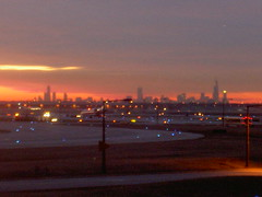 Skyline at Sunrise from O'Hare