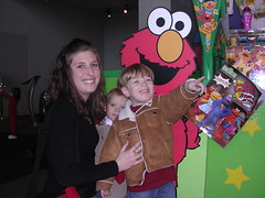 Katie, Noah, and Zachary at Sesame Street Live