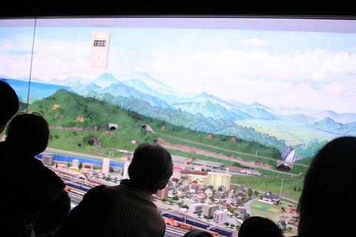入り口のところの鉄道模型