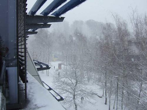 Universität Saarbrücken im Schnee