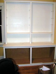 bookcase without shelves