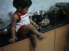 New dress & stylishly sitting on the kitchen slab