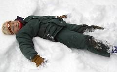 Julian Making a Snow Angel