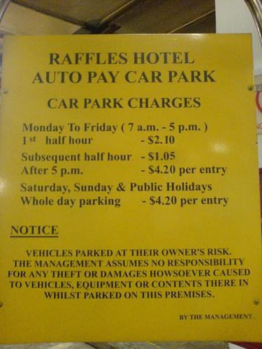 Parking at Raffles Hotel