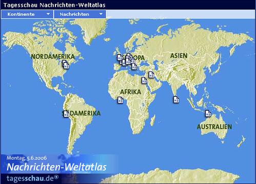 Nachrichtenweltatlas auf tagesschau.de