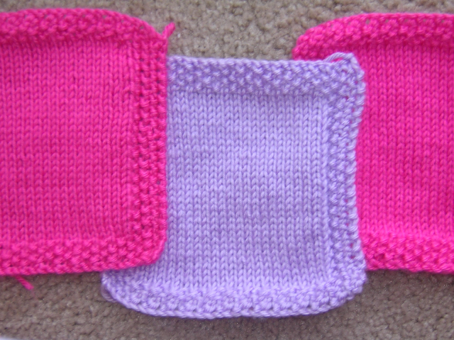 Blanket Stitch Knitted Squares Together : ...a crafty balance...: June 2006