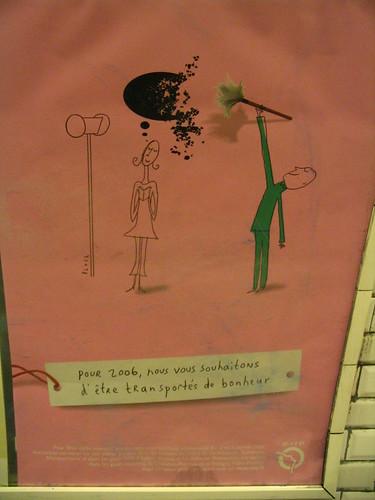 ipub jeanjulien guyot carte postale publicitaire RATP Paris