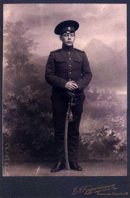 Кондрат Семёнович Недотрах, кадетский корпус