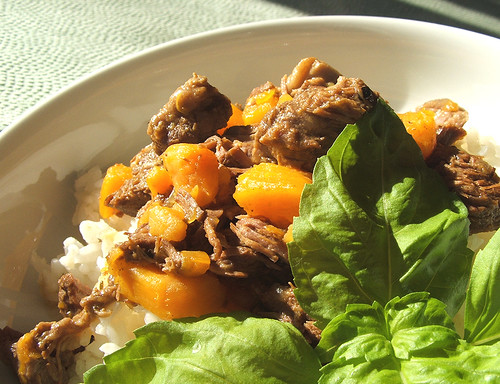 Beef stew with sweet potato -  1