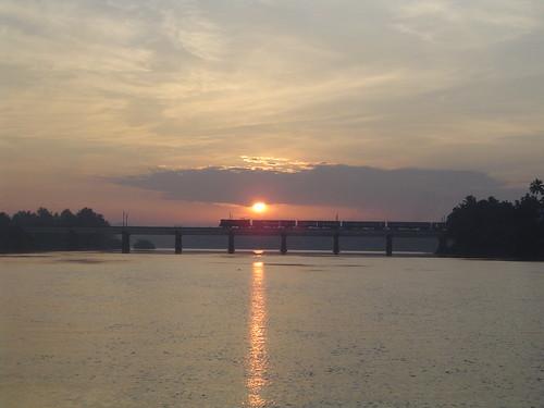Sun rise at Aluva