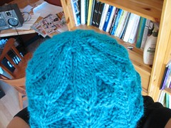 Lotus Blossom hat, top.