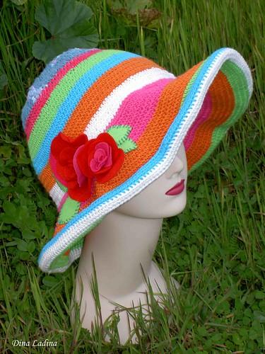 Chapéu com rosas