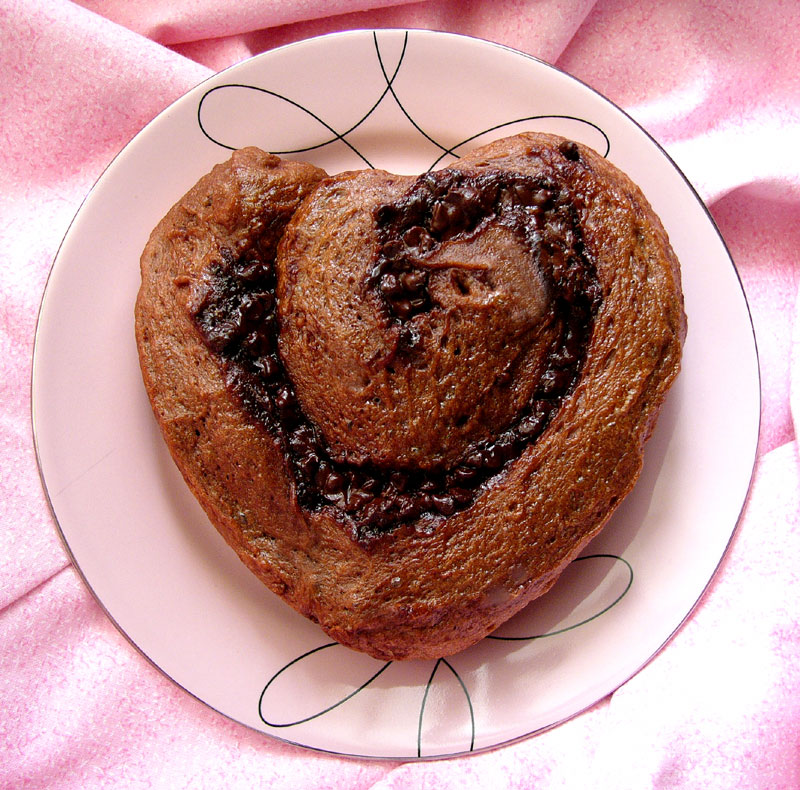 chocolate cherry nutella bun