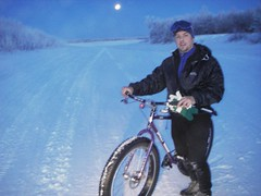 Winter 'fatbiking' on the Kuskokwim
