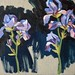 'Irises', 40x40cm, OIl on board