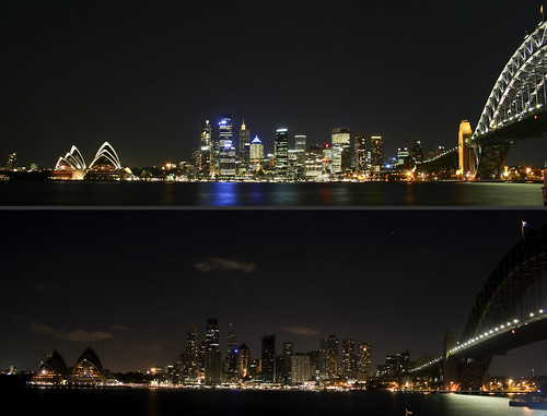 Earth Hour at Sydney (by Sardionerak)