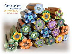 New Millefiori Flower Shaped Canes photo by Iris Mishly
