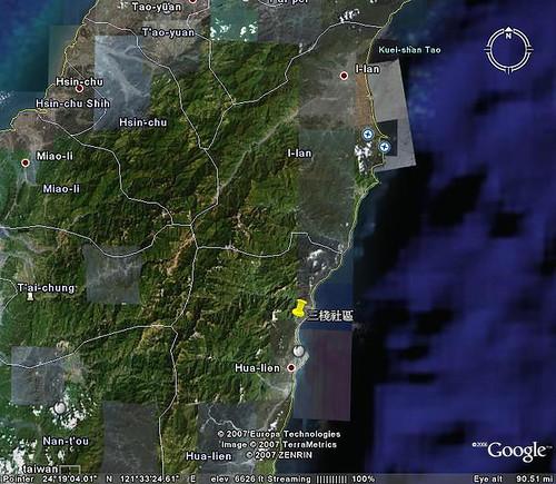 三棧社區地理位置 (by Audiofan)