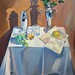 'Cocktail hour', Oil on board, 76x102cm