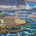 'The fort, Antibes', Gouache on board, 33x25cm