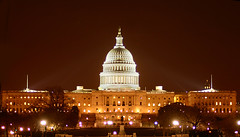 The US Capital building at night photo by MNesterpics