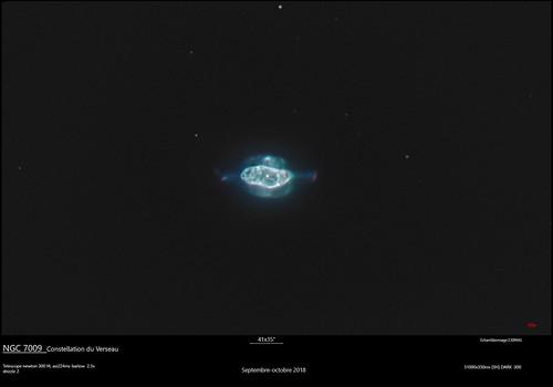 NGC 7009, la nebuleuse de Saturne