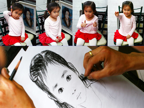 drawing a little girl
