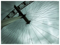 london cloudy sky - london eye