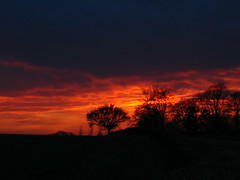 Fire in the sky - sunset