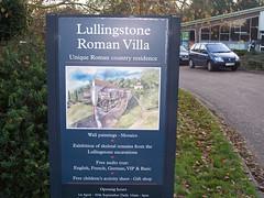 Sign at Lullingstone Roman Villa