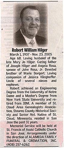 Bob Hilger Obit