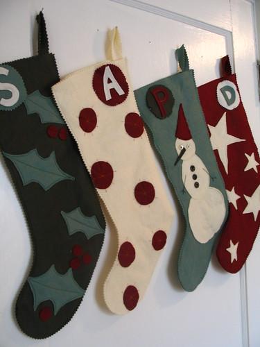 wool felt stockings