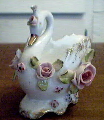Vintage Swan Planter Fancy