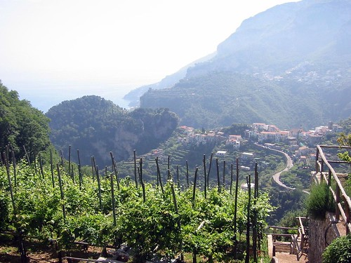 View up the coast, ravello