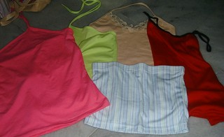 Tube, halter and tank tops