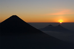 Sunrise over Volcan Agua and Pacaya 2